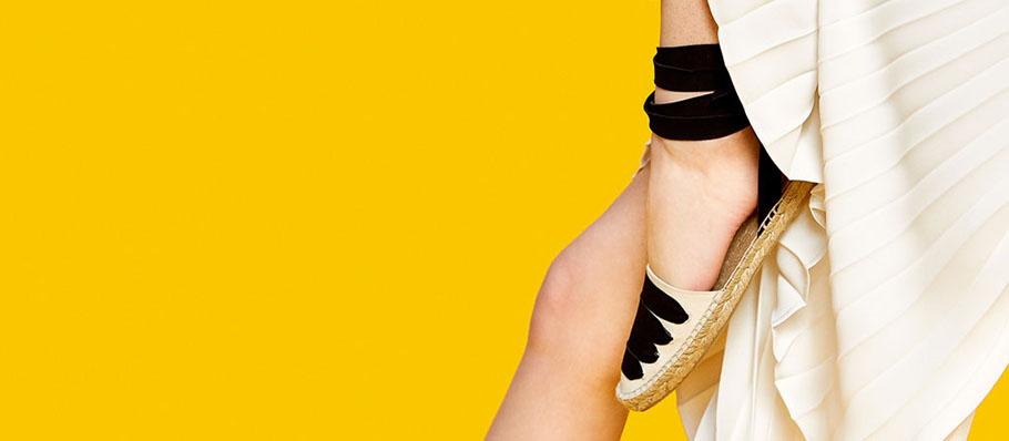 zapatos de zara-alpargatas yute